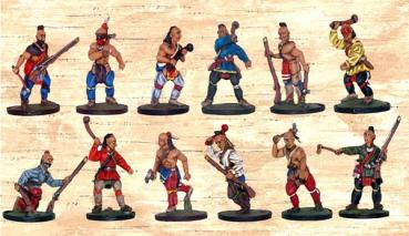 Box 2 Red Indians with Clubs and Tomahawks