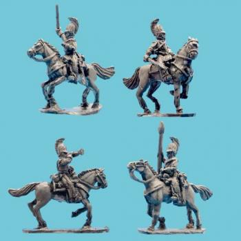 Cuirassiers Command in Horsehair Crested Helmet